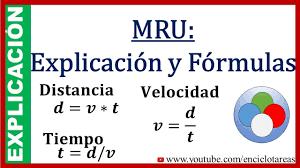 MRU Explicación y Fórmulas (subtitulado) - YouTube